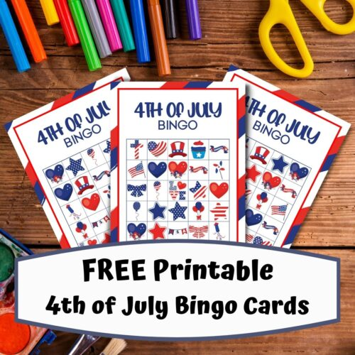 FREE Printable 4th of July Bingo Game for Kids