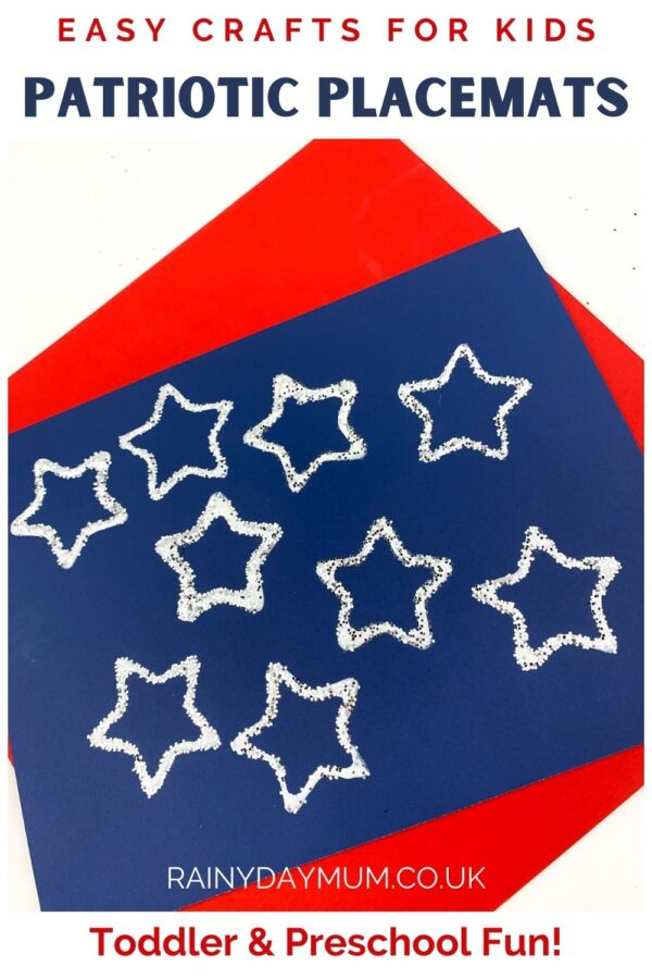 Pinterest image for Patriotic Placemats toddler and preschool fun craft