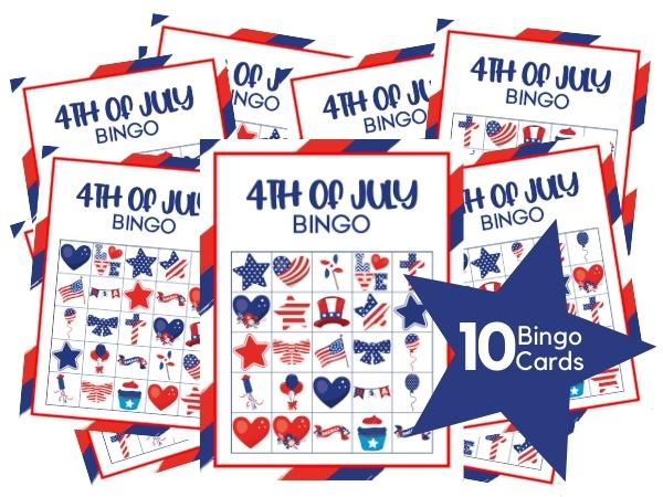 4th of July Bingo Game preview of the complete pack