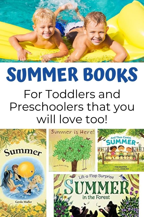 pinnable image from Rainy Day Mum for Summer Books for Toddlers and Preschoolers that you will Love too!