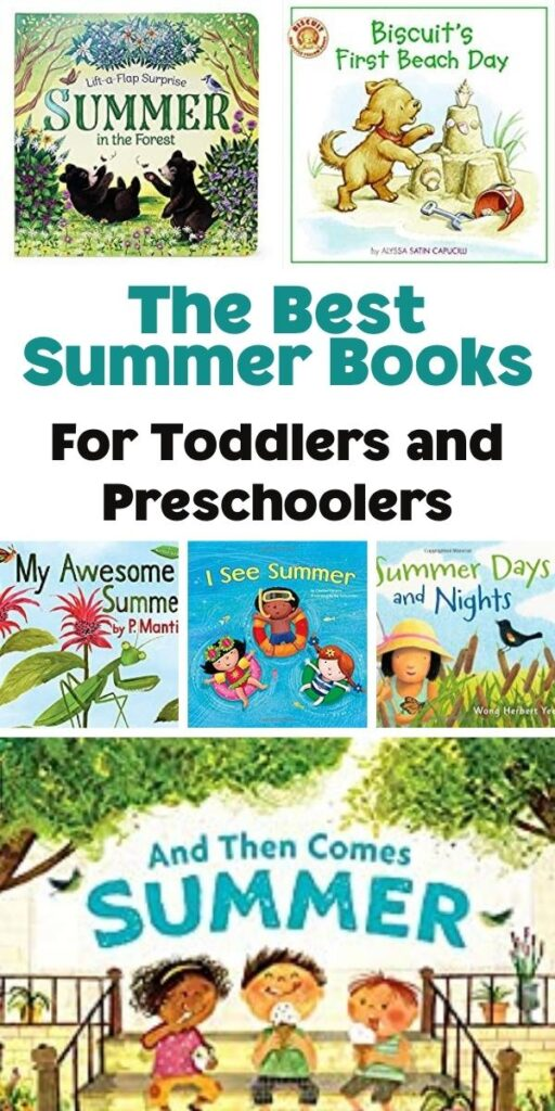 The Best Summer Books for Toddlers and Preschoolers Cover Collage from Rainy Day Mum