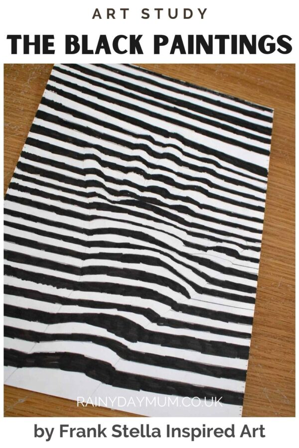 The Black Paintings by Frank Stella Art Study Project for Kids