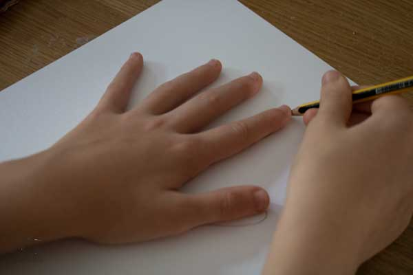 drawing around a hand
