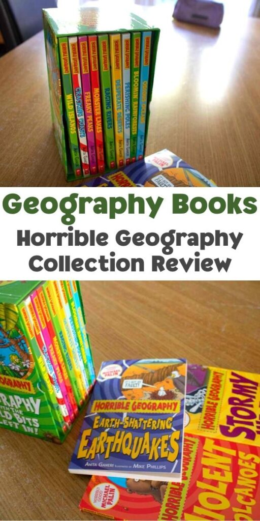 Geography Books for Kids to cover physical geography with a Horrible Geography collection