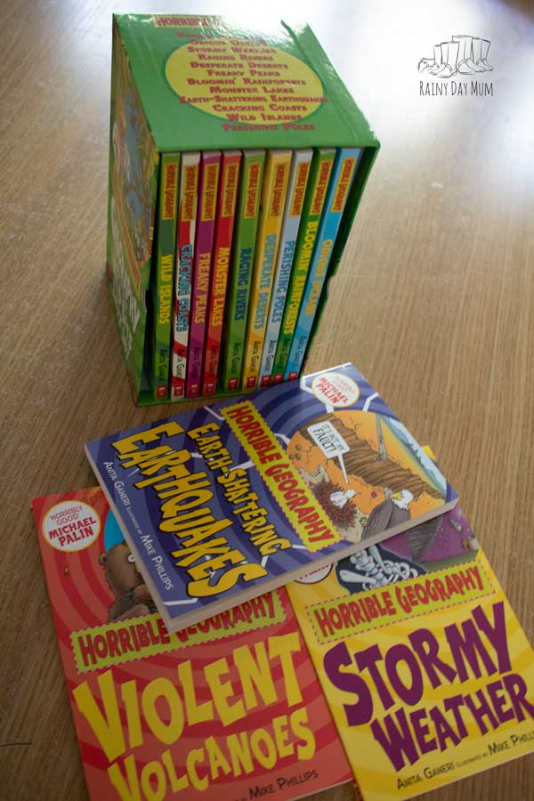 collection of fun geography themed books in a box set the Horrible Geography collection from Books2Door