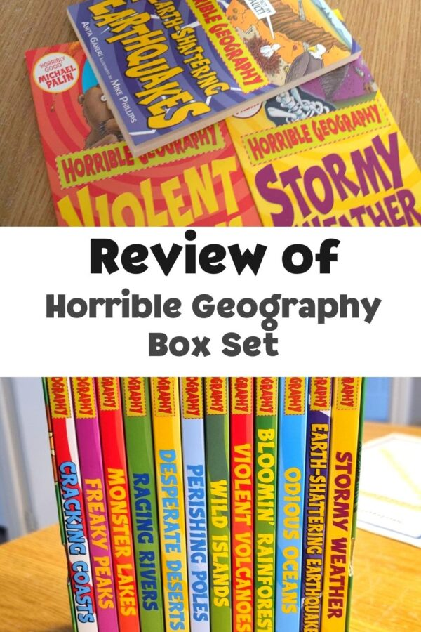 review of the horrible geography box set of books for kids from rainy day mum and books2door